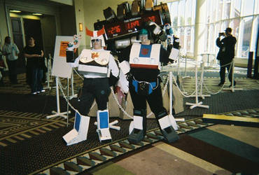 Prowl and Jazz costumes by evilkillerpoptarts