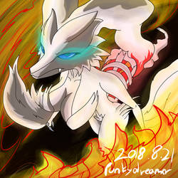 Burning  Reshiram by Punkydreamer