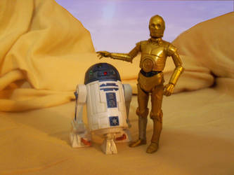 R2-D2 and C-3po on tatooine