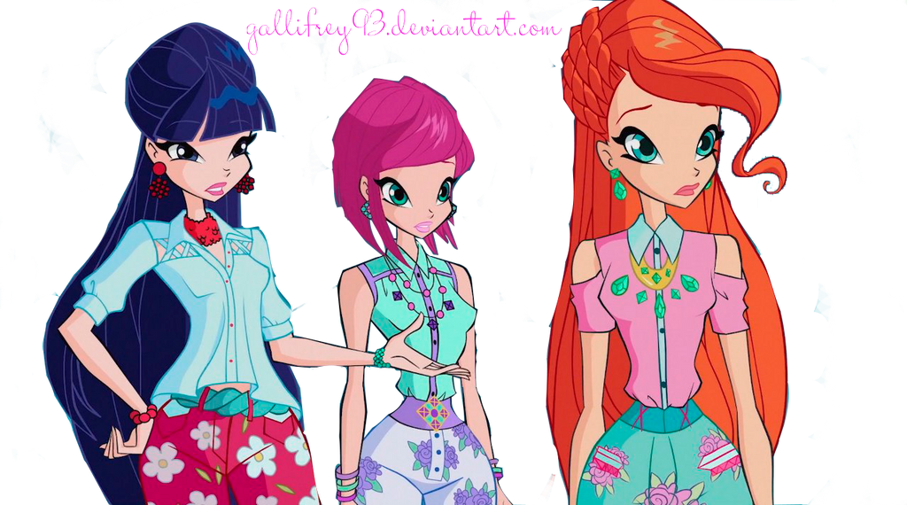 The Winx Club Musa, Tecna and Bloom by Gallifrey93 on ...