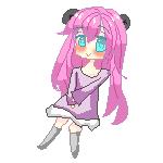 Pink Panda Pixel by KokoMall