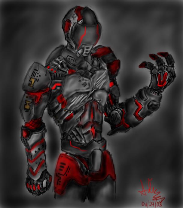 Cyborg Assasin by Ev0luti0nary