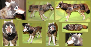 Realistic Timber Wolf Plush by Jarahamee
