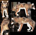 Realistic Iberian Wolf Plush