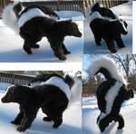 Realistic Skunk Plush Toy