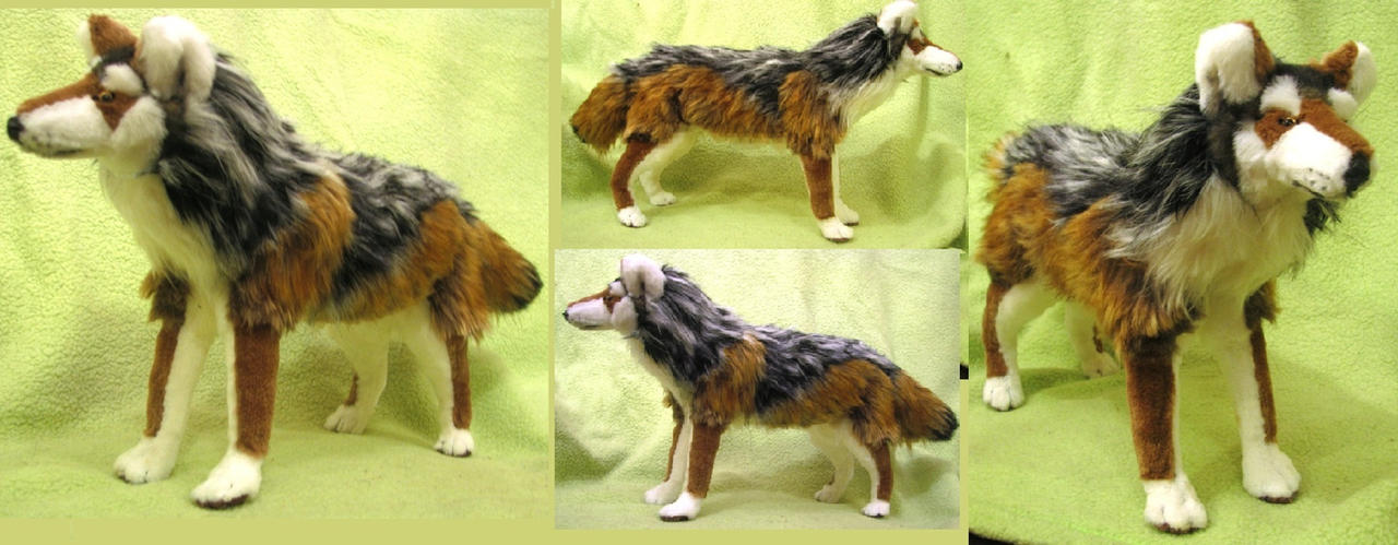 Mexican Gray Wolf Plush Toy by Jarahamee