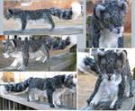Dark Snow Leopard Plush