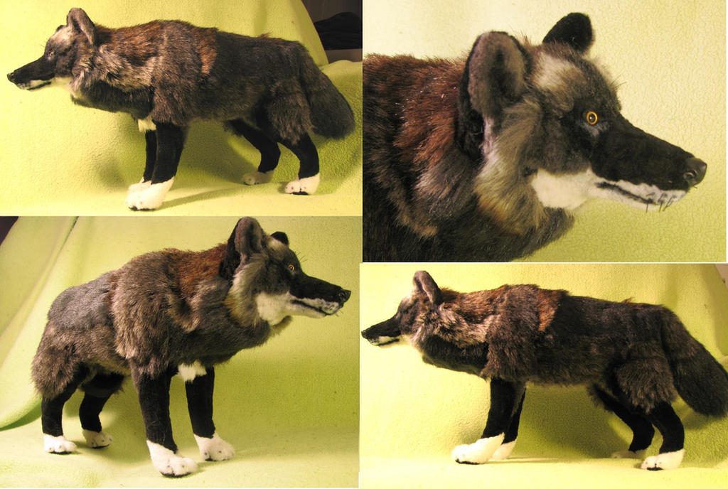 Wolf Family Toy : Black timber wolf plush toy by jarahamee on deviantart