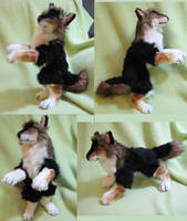Black and brown werewolf plush toy! by Jarahamee