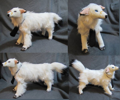 Borzoi Dog Breed Tom Plush Toy Commission