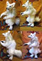 White Werewolf Commission Plush Toy