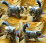Persian Kitten Realistic Plush Toy