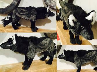 Akama Wolf Plush Commission by Jarahamee