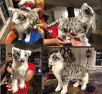 Realistic Cat Plush Commission by Jarahamee