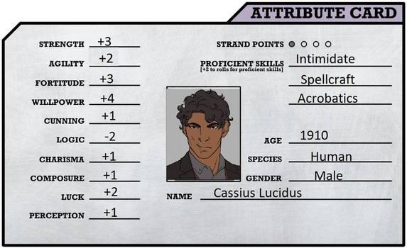 Cassius Attribute Card