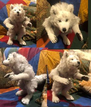 White Werewolf Plush Commission
