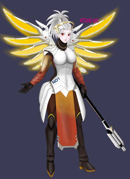 Noi Cosplaying as Mercy