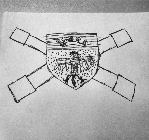 Drawing rough Heraldry by SirJohnRafael