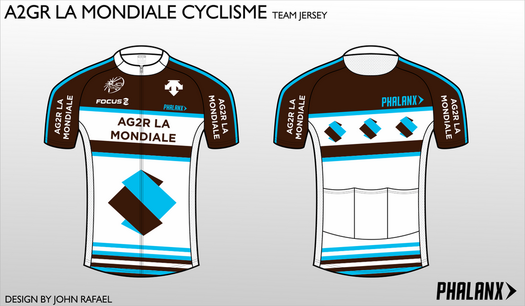 A2GR Cycling Jersey by SirJohnRafael