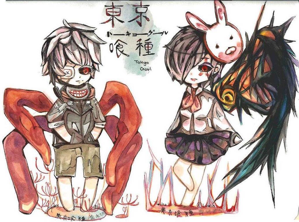 Tokyo Ghoul Chibi Set #1 by OtakuDreams