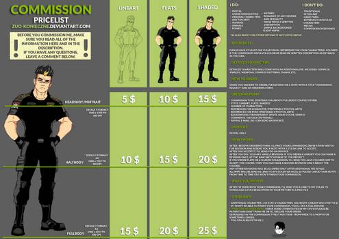 New Commission Pricelist [OPEN]