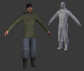 low poly char for mobile game