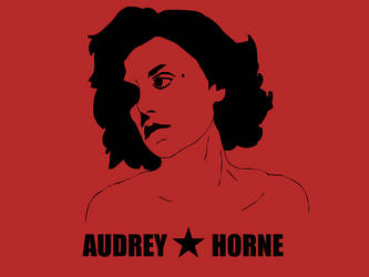 Audrey Horne in a Che style by theephsnitch