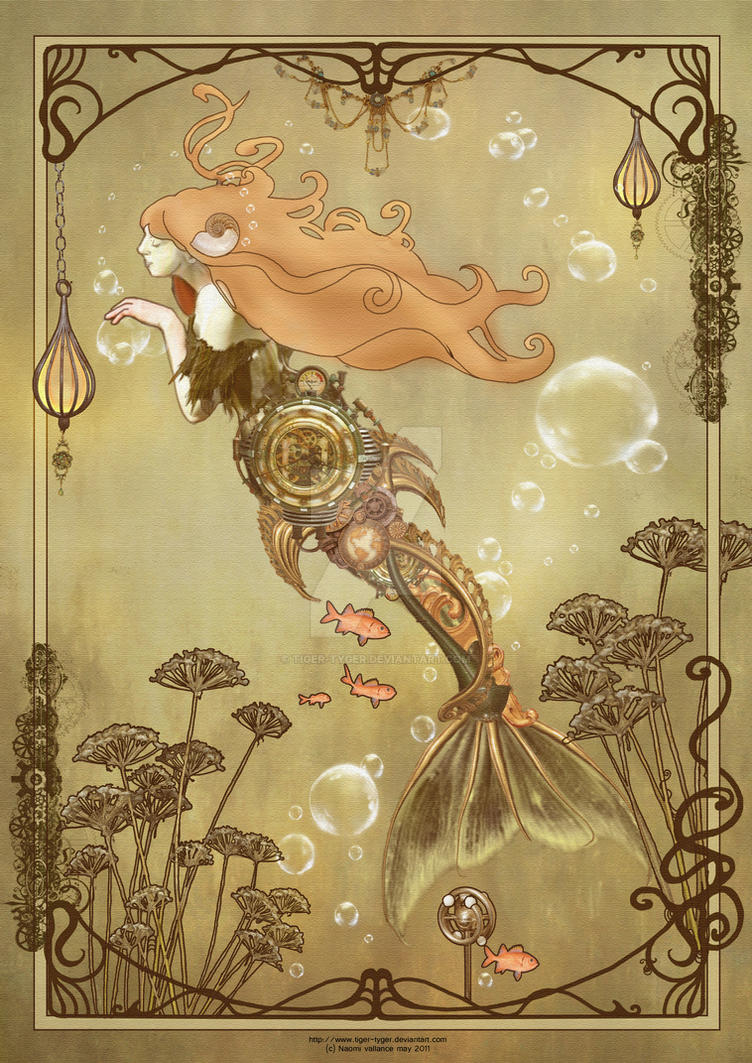Steampunk Mermaid Nouveau by Tiger-tyger on DeviantArt