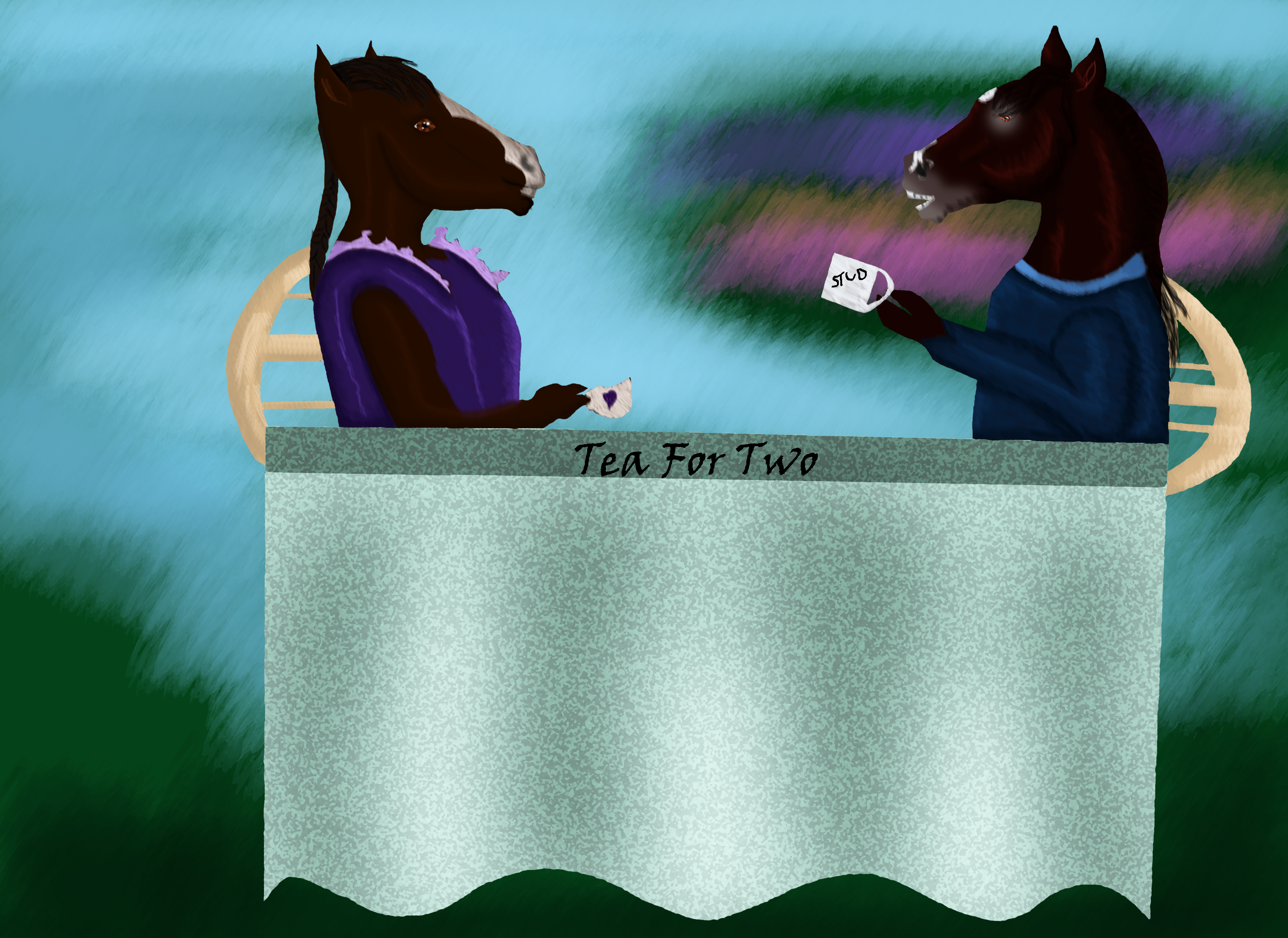 Tea For Two by Song-Wolf-Farm