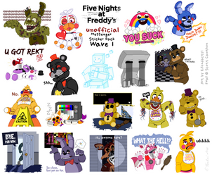 FNaF Messenger stickers (not official) by Thyladactyl