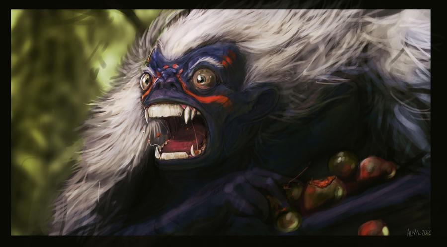 Startled Jungle Yeti by KruddMan