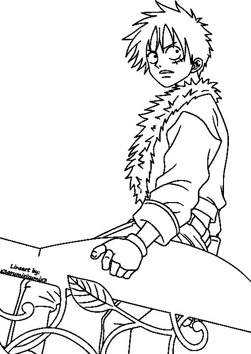 Luffy Lineart : Luffy lineart by opf e n on deviantart