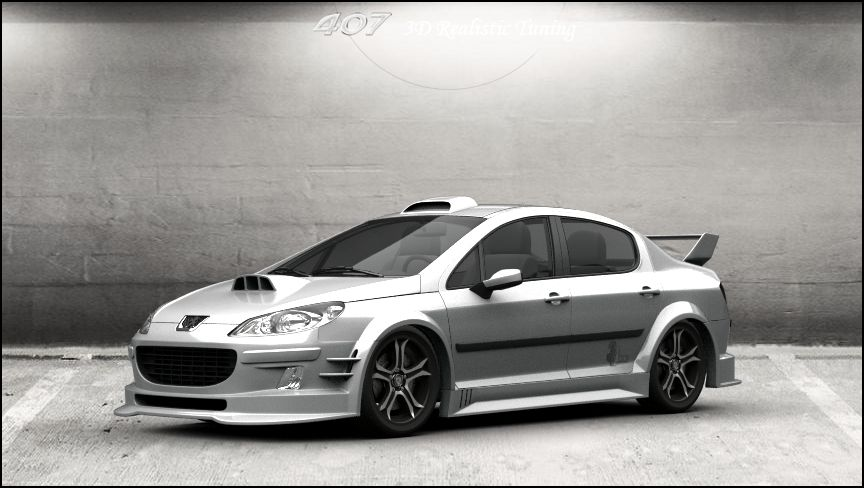 peugeot 407 sedan 2004 1 3d tuning by davi80 on deviantart. Black Bedroom Furniture Sets. Home Design Ideas