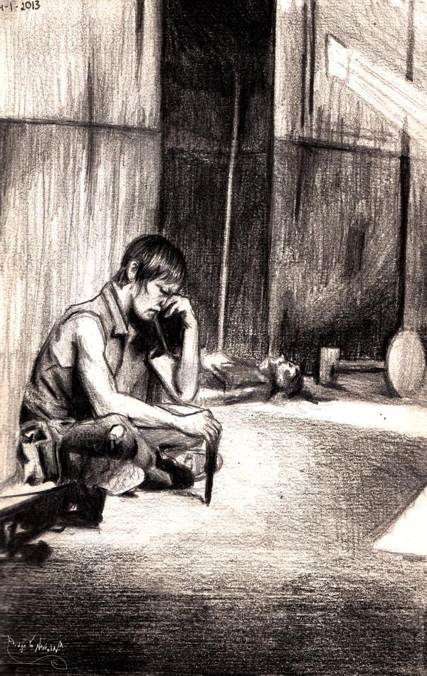 Daryl Dixon - sorrow by BridgeToNeverland
