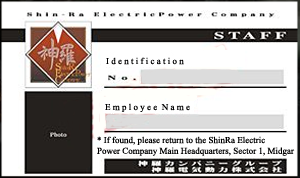 Shinra ID card V.2 by Megajon