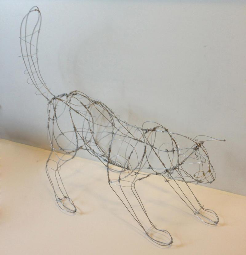 Wire Cat by Gabcat on DeviantArt