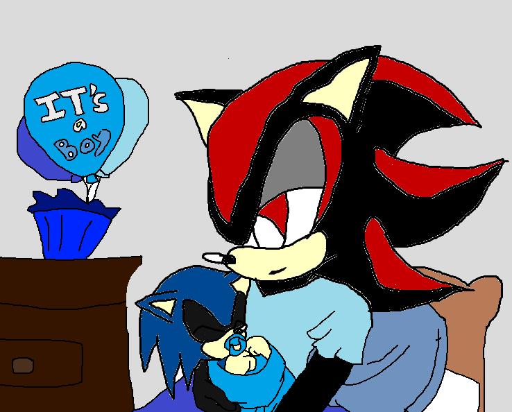 Shadow X Sonic Mpreg shadow and shaw...