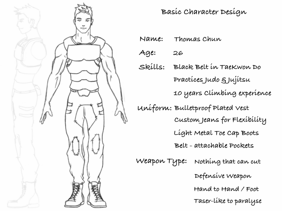 Basic Character Design Tips : My basic character design by thatspark on deviantart