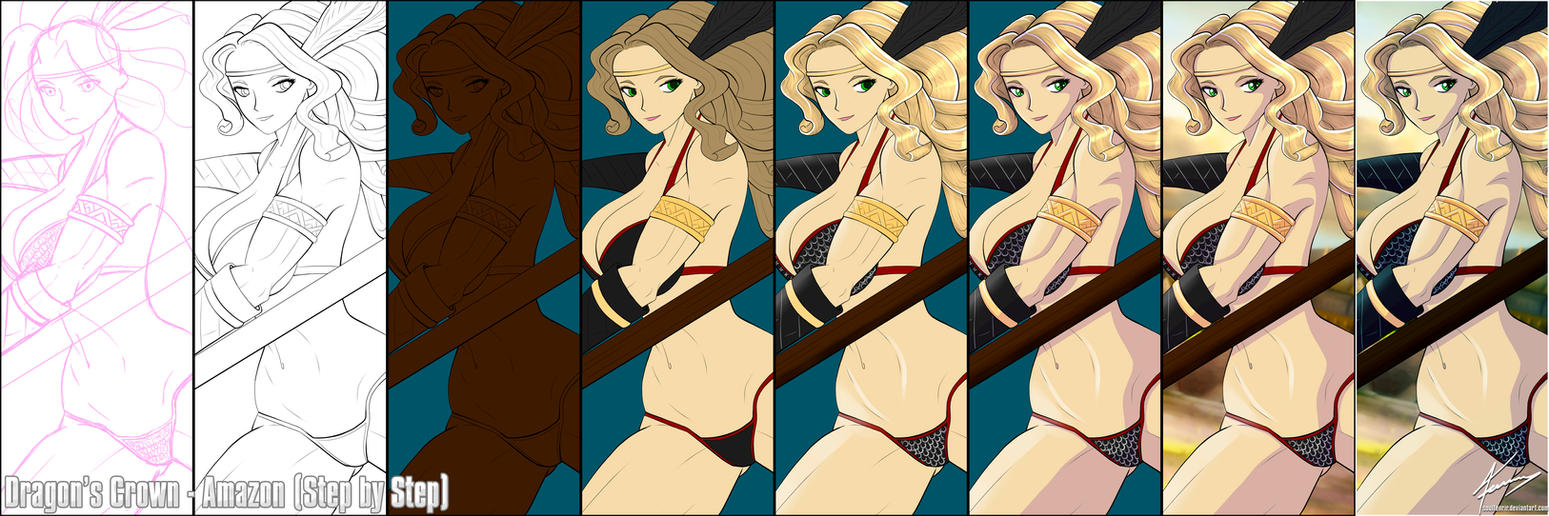 Dragon's Crown - Amazon (step by Step) by soulfenrir