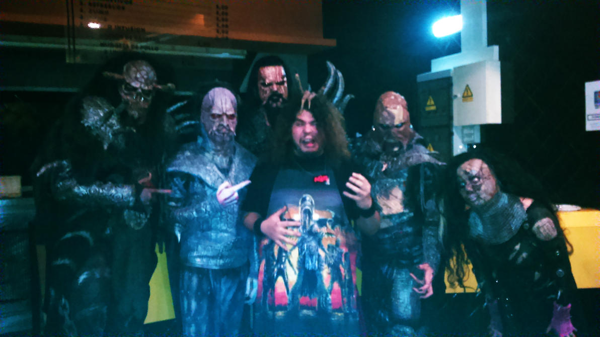 Meet and Greet with LORDI..and an apron. by soulfenrir