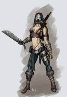 Female post apocalyptic soldie by Dkiearth9