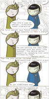 101 Ways to Make a Vulcan Laugh: 007 by TheVeggieSalad