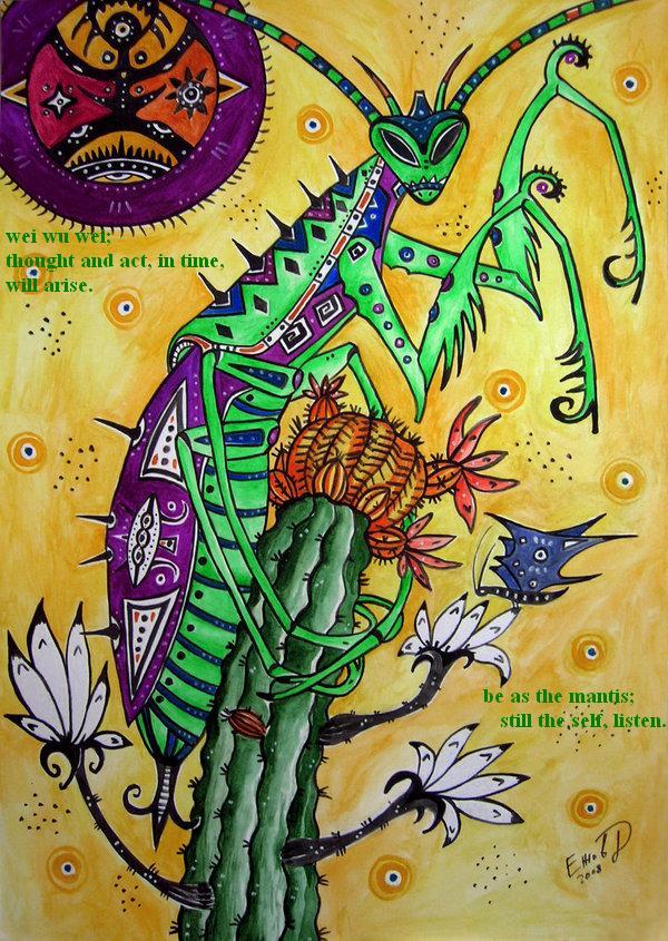 mantis: a haiga by deinktvis