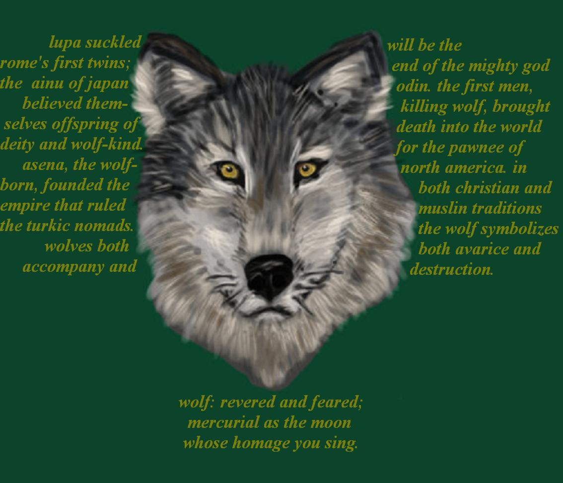 wolf:a haiga by deinktvis
