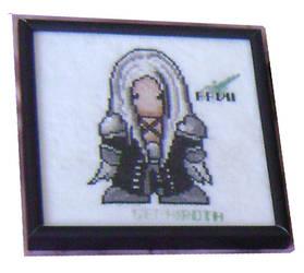 Sephiroth - Cross Stitch by aryanvamp