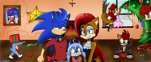 Christmas Family Portrait - Collab by MightyMorg