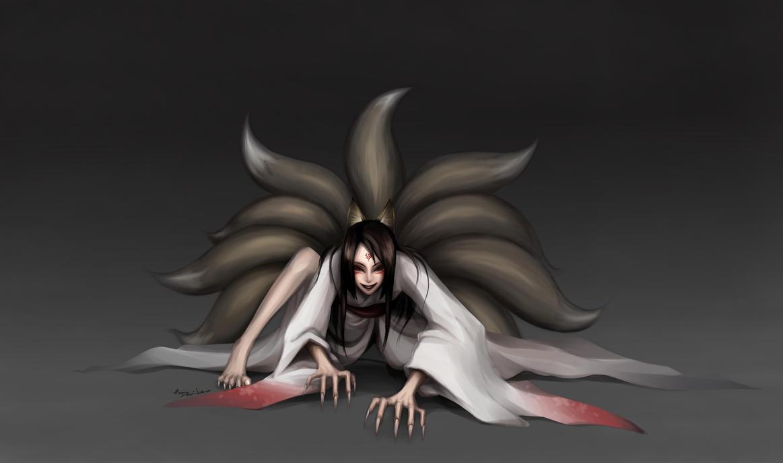9Tails Demon by DarikaArt