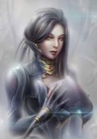 The Lotus of Warframe by DarikaArt
