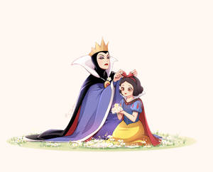 The Queen and Snow white