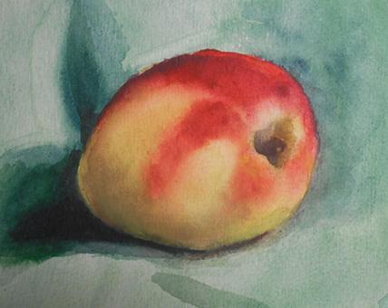Aquarelle apple 1
